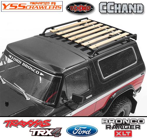 RC4WD ウッド ルーフラック for TRX-4![BRONCO][ブラック]