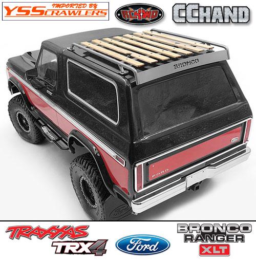 RC4WD ウッド ルーフラック for TRX-4![BRONCO][シルバー]