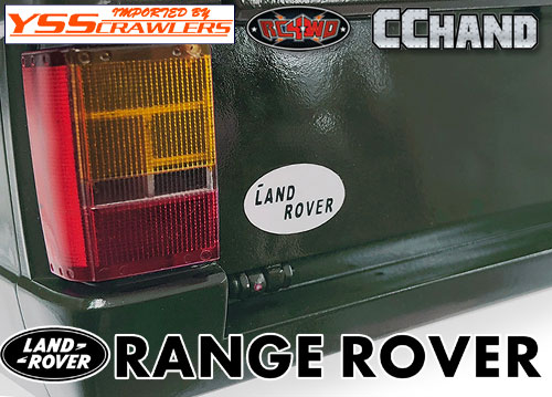 RC4WD Rear Logo Decal for JS Scale 1/10 Range Rover Classic Body