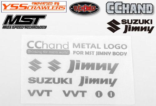 RC4WD メタルエンブレム シルバー for MST CMX ジムニー J3!