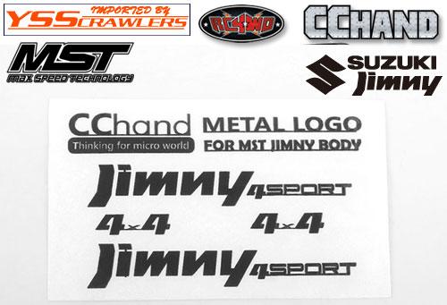 RC4WD メタルエンブレム ブラック for MST CMX ジムニー J3!