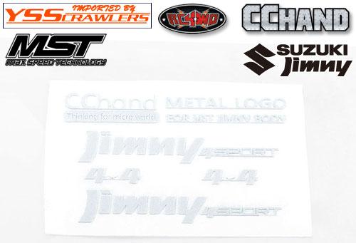 RC4WD メタルエンブレム ホワイト for MST CMX ジムニー J3!