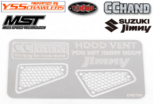 RC4WD Side Metal Hood Vents for MST 1/10 CMX w/ Jimny J3 Body
