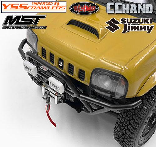 RC4WD スチールチューブフロントバンパー[ウィンチ可] for MST CMX ジムニー J3!