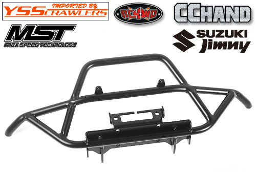 RC4WD Steel Tube Front Bumper w/IPF Lights for MST 1/10 CMX w/ Jimny J3 Body