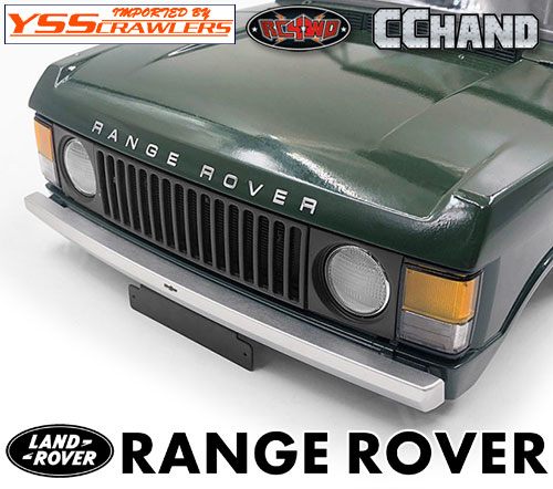 RC4WD Slick Metal Front Bumper for JS Scale 1/10 Range Rover Classic Body (Silver)
