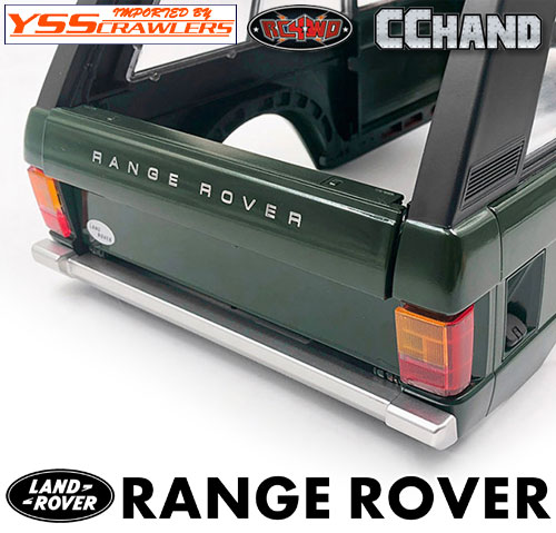 RC4WD Slick Metal Rear Bumper for JS Scale 1/10 Range Rover Classic Body (Silver)