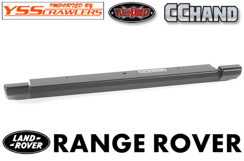RC4WD Slick Metal Rear Bumper for JS Scale 1/10 Range Rover Classic Body (Black)