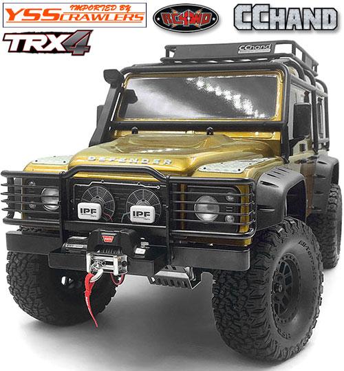 RC4WD キャメルトロフィーフロントバンパー IPF ウィンチ for TRX-4![D110]