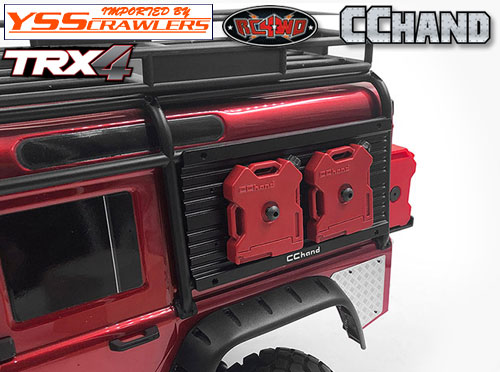 RC4WD Overland Equipment Panel W/ Portable Fuel Cells for Traxxas TRX-4 Land Rover Defender