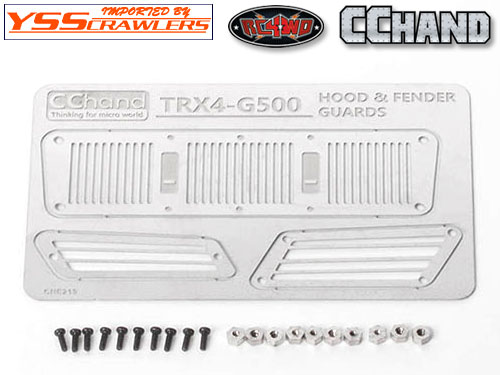 Metal Hood and Fender Vents for Traxxas TRX-4 Mercedes-Benz G-500