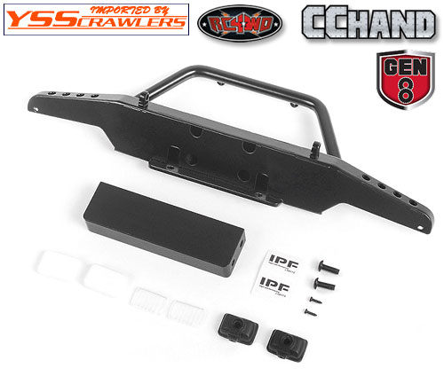 Steel Stinger Front Winch Bumper w/ IPF Lights for Redcat GEN8 Scout II 1/10 Scale Crawler