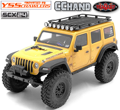 RC4WD ルーフラック&ライト、ラダーセット for Axial SCX24![ジープ]
