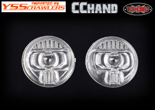 RC4WD Front Lamp Lens for Axial 1/10 SCX10 III Jeep JLU Wrangler