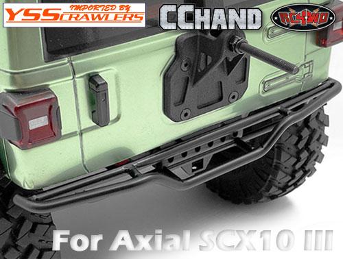 RC4WD ラフスタッフ メタルリアチューブバンパー for Axial SCX10-III ジープ JLU!