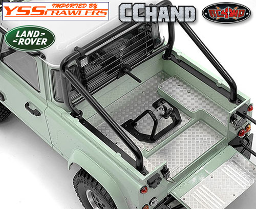 RC4WD 縞鋼板リアベッドガード for 2015 D90ピックアップ!