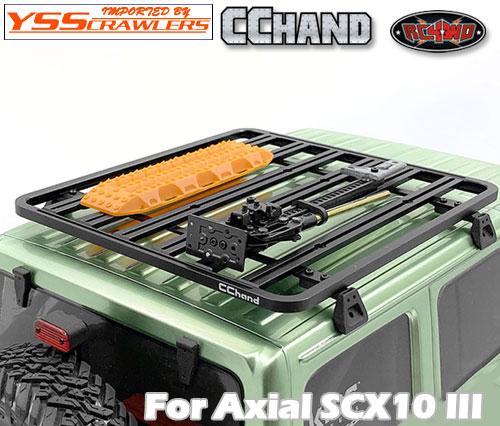 RC4WD アドベンチャールーフラック for Axial SCX10-III ジープ JLU!