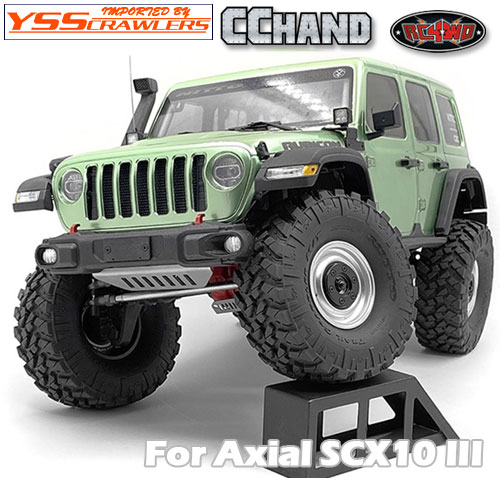 RC4WD OEMフロントバンパー NPホルダー付 for Axial SCX10-III ジープ JLU!