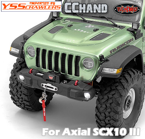 RC4WD OEMナローフロントウィンチバンパー for Axial SCX10-III ジープ JLU!