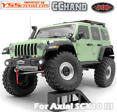 RC4WD OEMナローフロントウィンチバンパー STガード for Axial SCX10-III ジープ JLU!