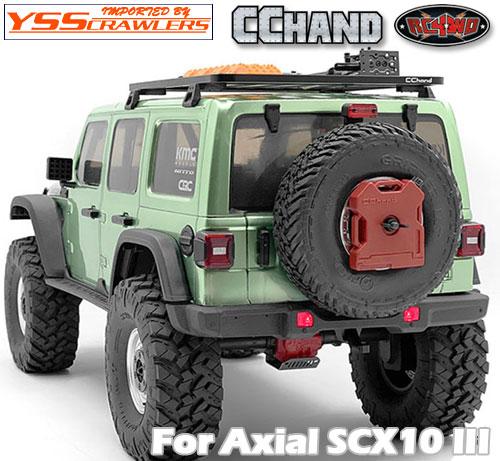 RC4WD OEMリアバンパー 牽引フック/NPホルダー for Axial SCX10-III ジープ JLU!