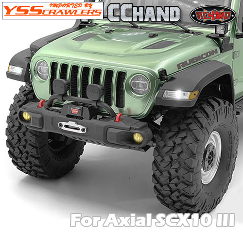 RC4WD フェンダー&LEDライトシステムセット for Axial SCX10-III ジープ JLU!