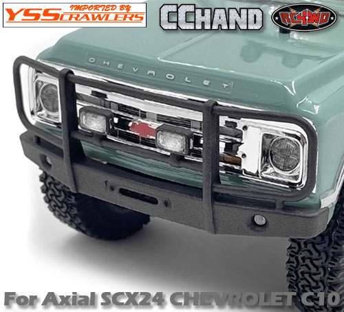 RC4WD フロントバンパー[フォグ] for Axial SCX24![シボレーC10]
