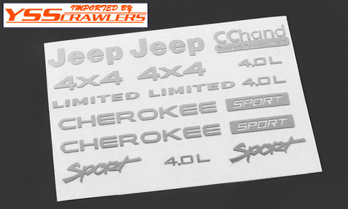 RC4WD メタル エンブレム - JEEP XJ ロゴ セット - [クローム]
