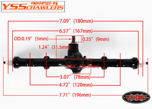RC4WD Yota Ultimate Scale Cast Axle [Rear]