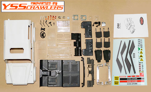 RC4WD Defender 90 Plastic Body Set [White][unassembled]