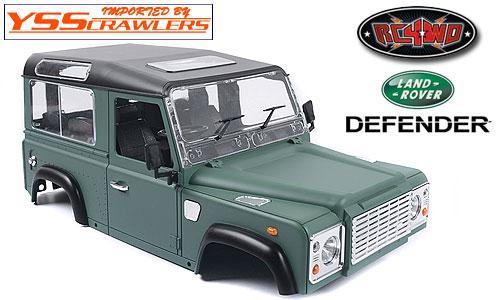 RC4WD Defender90 塗装済み プラスチックボディー! [グリーン&ブラック塗装]