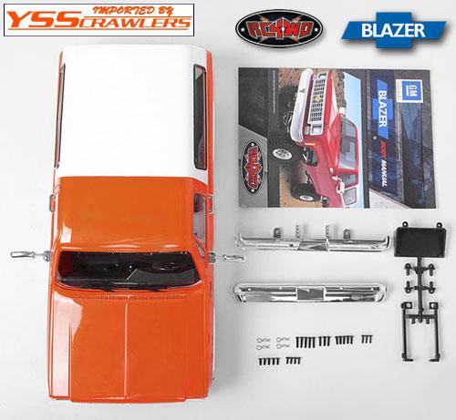 RC4WD シボレー[シェビー] ブレーザー プラスチックボディー![オレンジ]