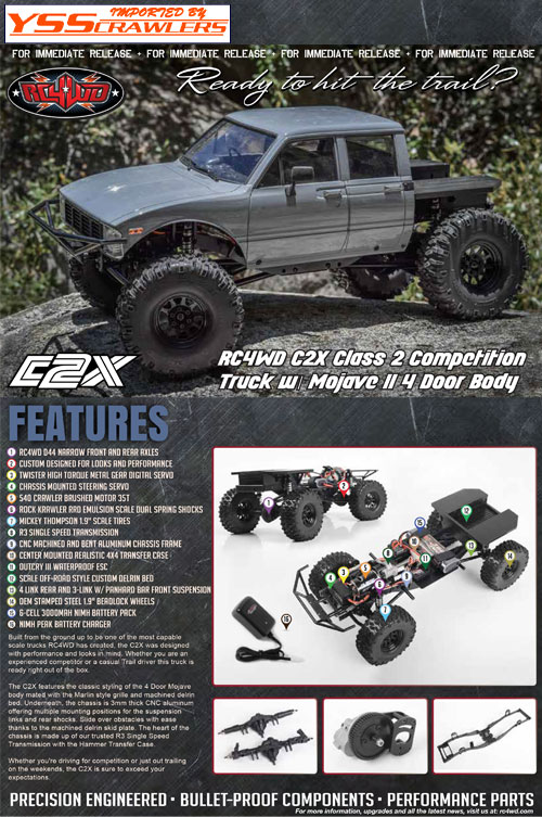 RC4WD C2X Class 2 Competition Truck w/ Mojave II 4 Door Body
