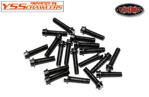 RC4WD Miniature Scale Hex Bolts [M2.5 x 10mm][Black][20]