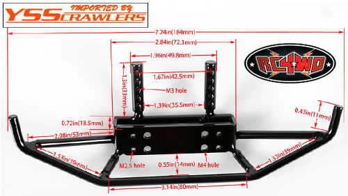 RC4WD Tough Armor Front Steel Tube Bumper for Trail Finder 2 and Axial SCX10 chassis!