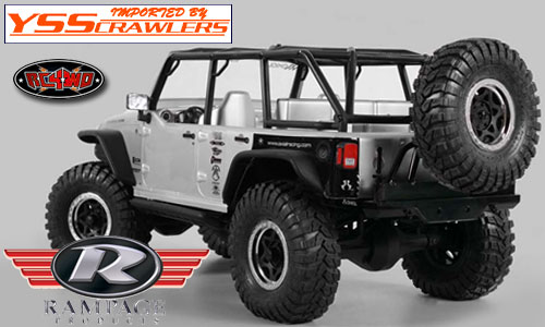 RC4WDRampage Recovery Rear Bumper with Swing Away Tire Carrier!