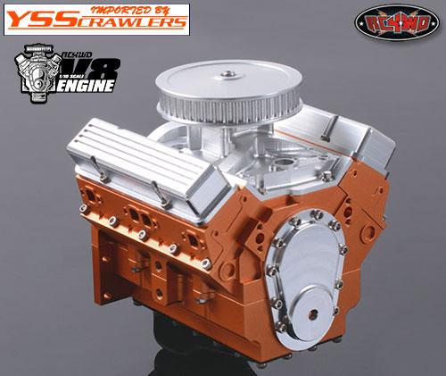 RC4WD 1/10 V8 スケールエンジン!
