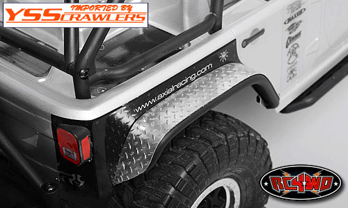 RC4WD Diamond Plate Fender Covers for Axial Jeep Rubicon