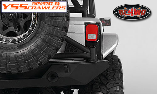 RC4WD Aluminum Tube Rear Fender for Axial Jeep Rubicon (Silver)