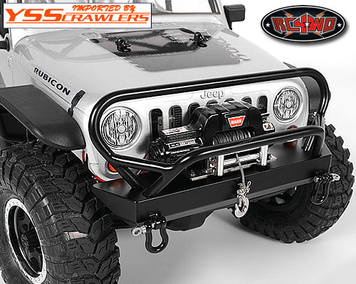 RC4WD Tough Armor Winch Bumper with Grill Guard for Axial Jeep Rubicon