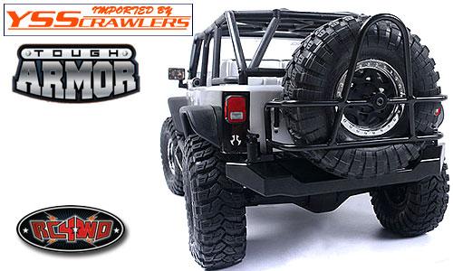 RC4WD タフアーマー リアタイヤ ホルダー for Axial SCX10 JEEP![タイヤキャリアー]