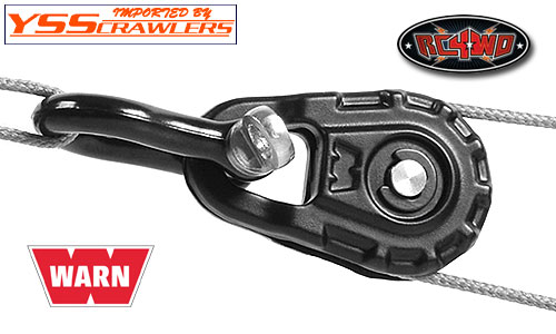 RC4WD Warn 1/10 Premium Snatch Block! [Black]