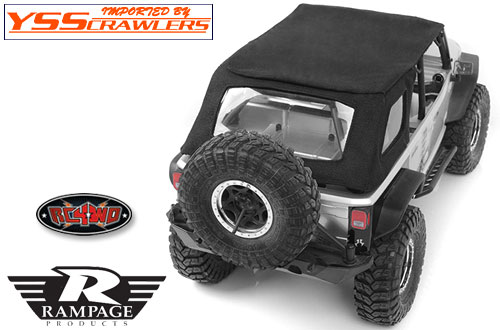 RC4WD ランページ リアスラント ソフトトップ for Axial JEEP!