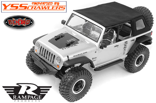 RC4WD Rampage Rear Slant Back Soft Top for Axial Jeep Wrangler!
