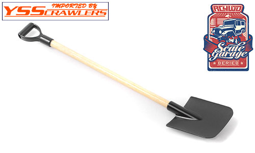 RC4WD Scale Garage Series 1/10 Wooden Handle Boulder Flat Shovel w/D-Grip