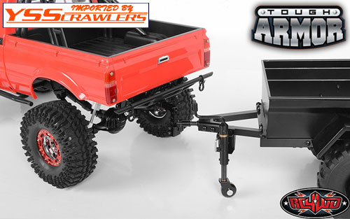 RC4WD Tough Armor Rear Steel Tube Bumper w/Hitch Mount for Trail Finder 2!