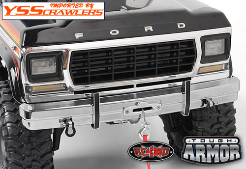 RC4WD Tough Armor Metal Stock Front Bumper for TRX4 Bronco
