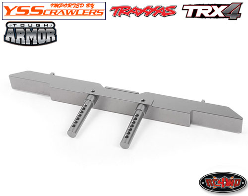 RC4WD TOUGH ARMOR REAR BUMPER FOR TRAXXAS TRX-4 (GUNMETALl)