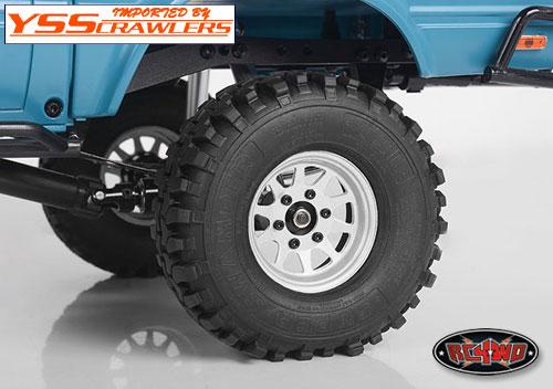 RC4WD OEM 6ラグ スチール スタンプド 1.55 ビードロック ホイール [ホワイト]