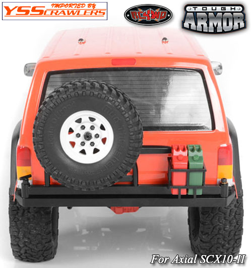 RC4WD Tough Armor Swing Away Tire Carrier w/Fuel Holder for Axial SCX10 II